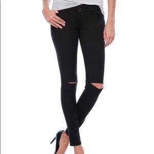 NWT Flying Monkey Black Split Knee Jeans